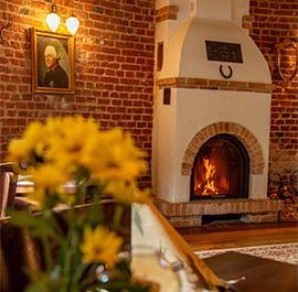 Kamin im Restaurant Alte Mühle Friedersdorf